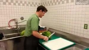 درست کردن هندوانه در کمتر از ۳۰ ثانیه