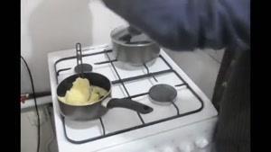 اموزش سوسیس اسپاگتی با کوکوی پوره سیب زمینی