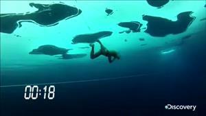بیشترین رکورد زیر آب منجمد
