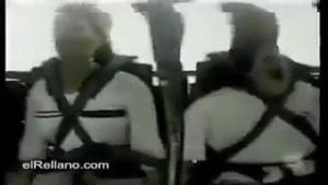 دو زن وحشت زده از یک وسیله تفریحی در شهر بازی !!