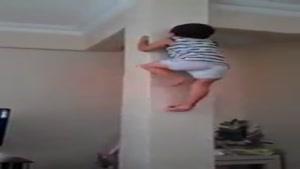 بالا رفتن از دیوار صاف !!!