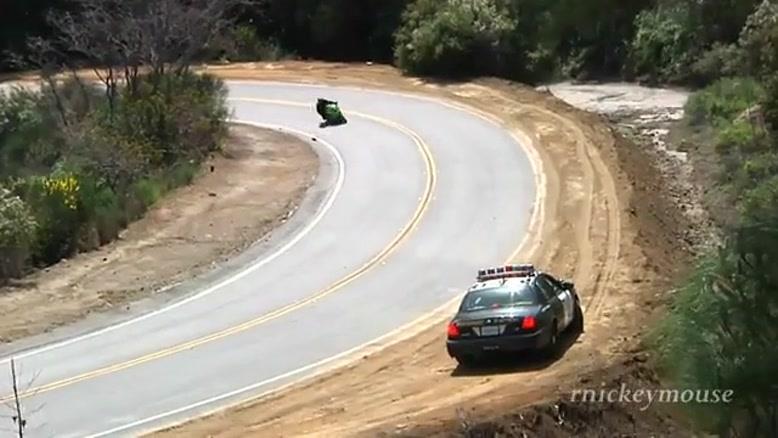 زمین خوردن با موتور