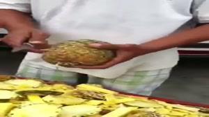 روش جالب حلقه حلقه کردن آناناس