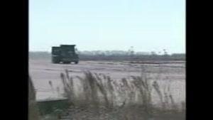 اوووف دیواری ک کامیون رو ترکوند