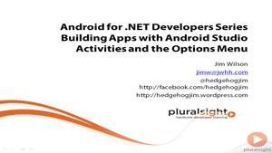 اندروید برای توسعه دهندگان دات نت جلسه ۱