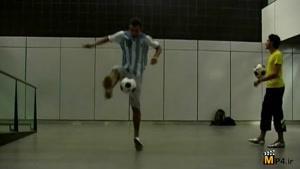 حرکات فوق نمایشی وتکنیکی با توپ فوتبال قسمت سوم