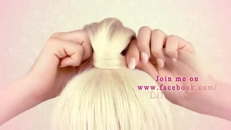 آموزش شنیون مو مدل گل سری