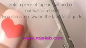 دیزاین طرح قلب روی ناخن