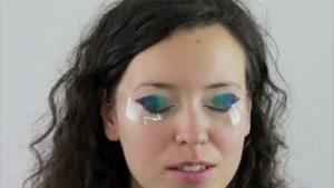 مدل آرایش و سایه چشم زیبای آسیایی