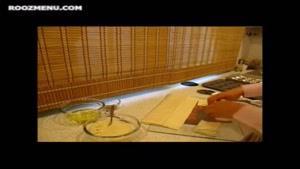 طرز تهیه ی باقلوا با خمیر یوفکای باقلوایی