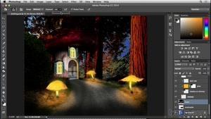 آموزش فتوشاپ - ساخت خانه قارچی - قسمت ۱۸