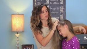 آموزش یک مدل بافت موی زیبا پیچیده شده دور سر