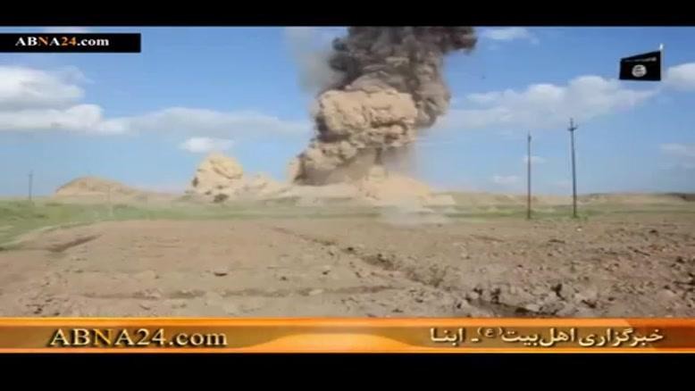تخریب شهر تاریخی نمرود توسط گروه تروریستی داعش
