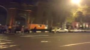 تجمع مردم دروزارت امور خارجه بعد از بیانیه لوزان