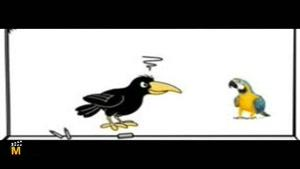 داستان کوتاه - طوطی و کلاغ