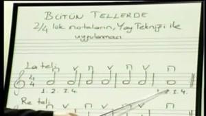 آموزش درس ویولن به زبان ترکی قسمت 6