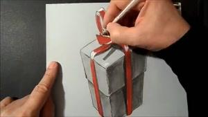 جعبه ی هدیه ۳بعدی....