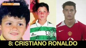 مقایسه چهره ستارگان فوتبالی بادوران کودکی