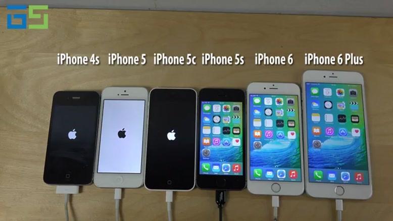 مقایسه سرعت آیفون ها در iOS ۹