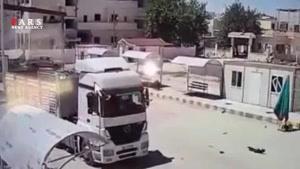 لحظه ورود خودروی بمبگذاریشده از ترکیه به سوریه
