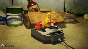 کارتون خنده دار لاروا - ماشین کنترلی