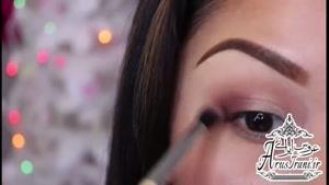 آموزش کامل آرایش ۱۹ - آرایش براق و چشم نواز