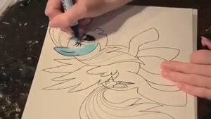 نقاشی رینبودش -Rainbow Dash