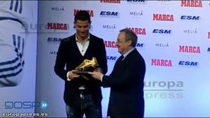 اهدای جایزه ی کفش طلا به رونالدو