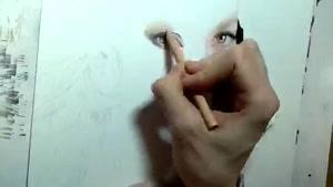 نقاشی فوق العاده ازچهره ی جنیفر لوپز