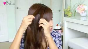 بافت مو آبشاری گره