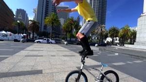 پارکور با دوچرخه در خیابان های سانفرانسیسکو