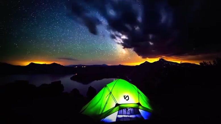 تایم لپس طبیعت و ستارگان