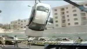 مراحل نجات یک ماشین تصادفی.در ایران