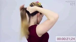 بستن موی سربه روشی ساده