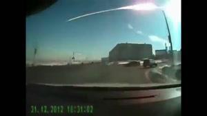 لحظه سقوط و انفجار شهاب سنگ در کوه های روسیه