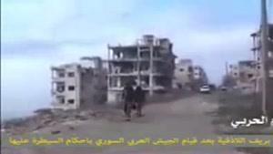 فیلم/شهر سلمی در حومه لاذقیه پس از آزاد سازی از لوث تروریست ها
