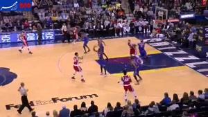 فیلم/ شب ۳۷ امتیازی هم تیمی سابق حدادی در NBA