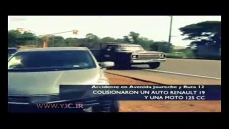 وقوع تصادف هنگام پخش زنده تلویزیونی