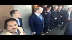 سلفی معصومی نژاد با اسکورت رئیس جمهور در ایتالیا