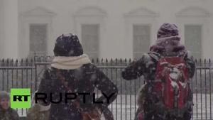 فیلم/ تعطیلی واشنگتن و نیویورک در پی بارش سنگین برف