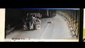 فاجعه بریدن ترمز کامیون در تونل