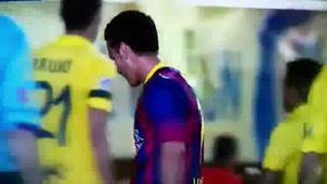 موز خوردن بازیکن بارسلونا وسط بازی فوتبال