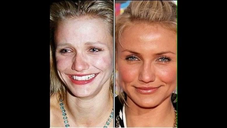 hollywood girls before and after garnish بازیگران هالییود قبل و بعد از آرایش