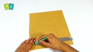 ایده خوب برای ساخت چراغ خواب با جعبه مقوایی