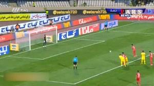 برد پرسپولیس مقابل نفت تهران در نیمه اول