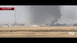 فیلم/حمله انتحاری خودروی داعش به تانک عراقی