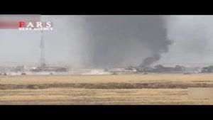 حمله انتحاری خودروی داعش به تانک عراقی