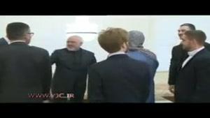 خنده جالب ظریف در دیدار با وزیر خارجه سابق سوئد