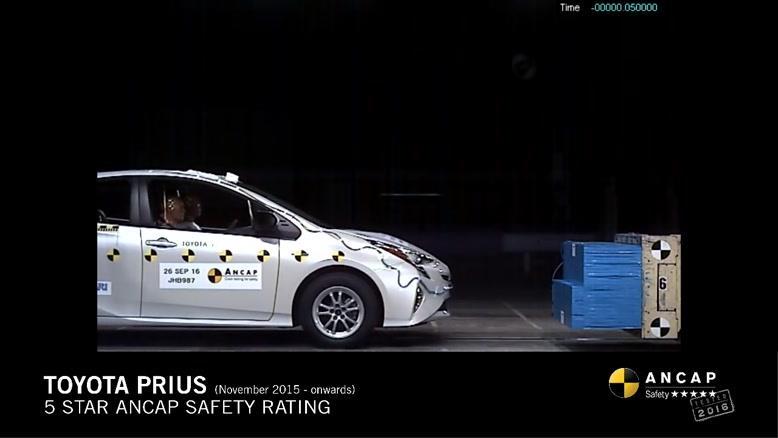 تست تصادف تویوتا پریوس Toyota Prius