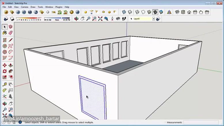 آموزش طراحی آپارتمان با Google Sketchup